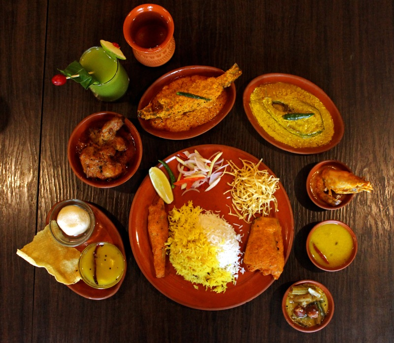 Thali with Chicken