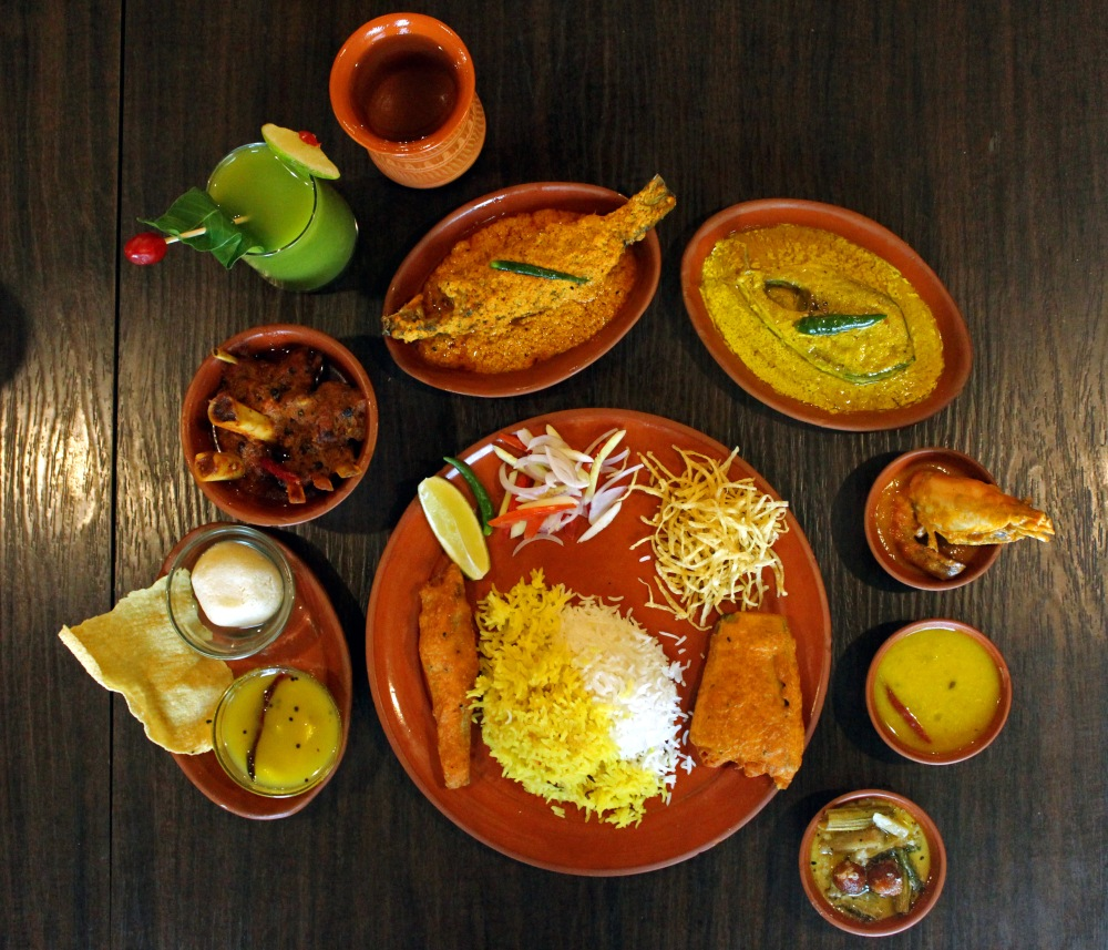 Thali with Mutton